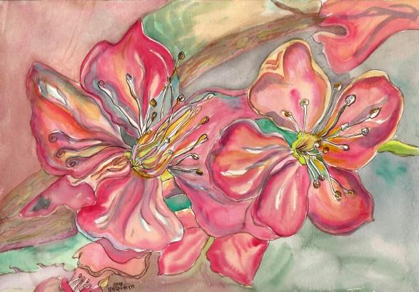 pink flowers-web